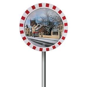 Stainless steel outdoor traffic mirror