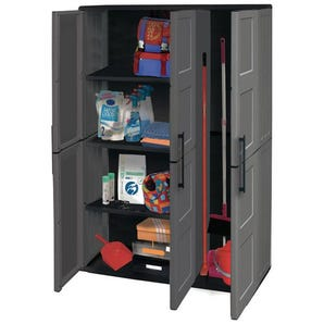 Plastic utility cupboards
