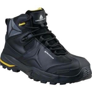 Black safety hiker boots