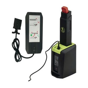 Battery chargers for compact semi-electric pallet trucks