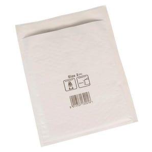 Premium white bubble lined postal bags.
