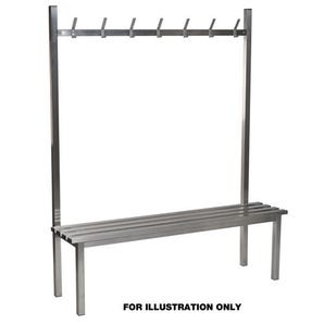 Aqua solo stainless steel cloakroom bench