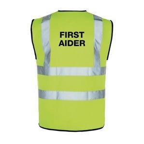 High vis first aider vest