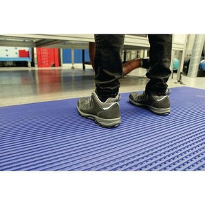 Multi-purpose ribbed PVC matting
