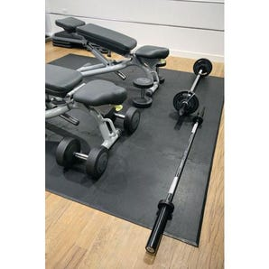 Rubber sports gym mat tiles