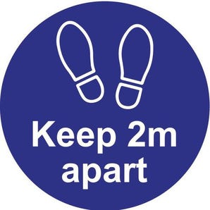 Floor graphic - Keep 2m apart