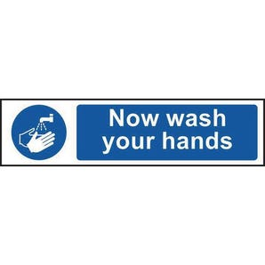Now wash your hand sign