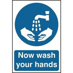 Now wash your hand sign - Portrait