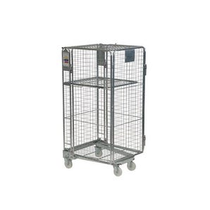 Budget nestable 'A' frame roll containers with mesh panels