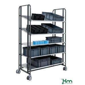 Konga multi-positional steel shelf trolleys