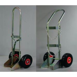 Oxygen cylinder trolleys for 230mm dia. bottles