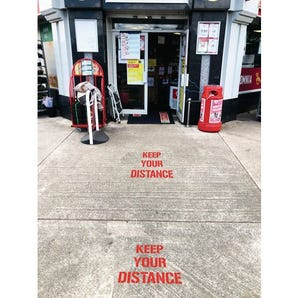 Stencil kit social distancing `KEEP YOUR DISTANCE`