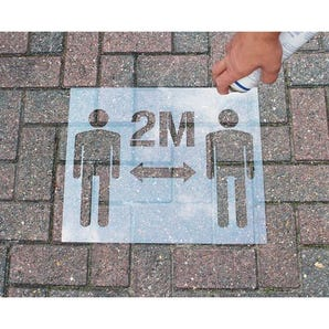 Social distancing stencil kit `2 M`