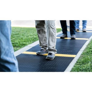 Delineated safety walkway matting - dual layer, 12m length