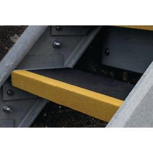 Slip resistant GRP stair tread covers