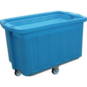 Plastic self levelling trolleys, 293 litres