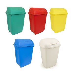 50L Flip top bin