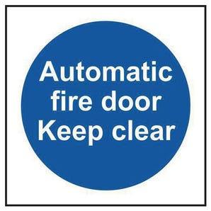 Mandatory fire safety signs