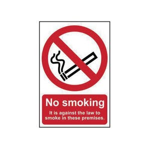 No smoking it is against the law prohibition signs