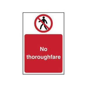 No thoroughare prohibition sign