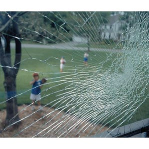 Anti-shatter glass window film