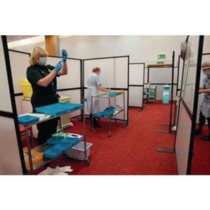 Medical room protection/ privacy screen