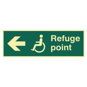Refuge Point Arrow Left Sign