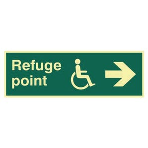 Refuge Point Arrow Right Sign