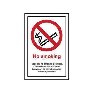 No Smoking. These Are No Smoking Premises Sign