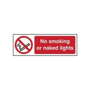 No Smoking Or Naked Lights Sign
