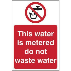 This Water Is Metered Do Not... Sign