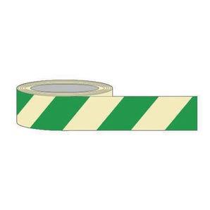 Green chevron photoluminescent tape
