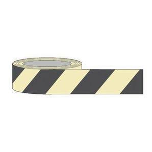 Black chevron photoluminescent tape