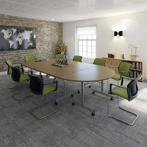 Tilt top folding meeting room tables