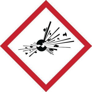 Ghs explosive symbol label