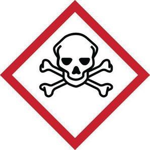 Ghs skull & cross bones symbol label