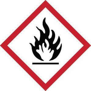 Ghs flammable symbol label