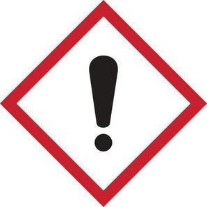 Ghs irritant symbol label