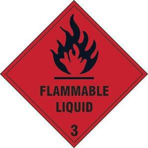 Flammable liquid 3 label
