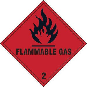 Flammable gas 2 label
