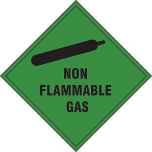 Non flammable gas label