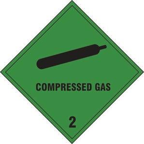Compressed gas 2 label