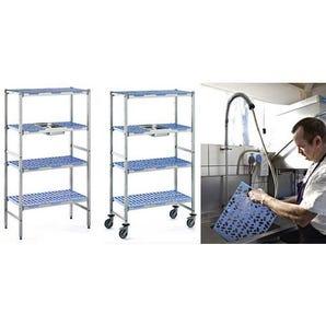 Mobile Aluminium & Polypropylene shelving