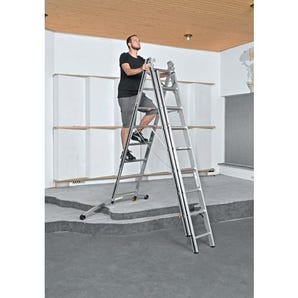 Combination ladder with smart base