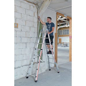 Four section telescopic ladder