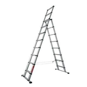 Telescopic combination ladder
