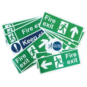 Fire exit signage pack - Small