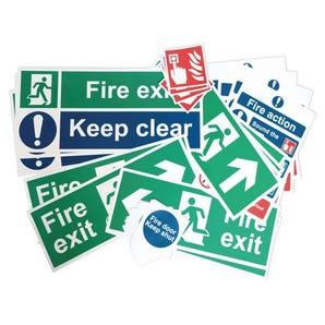 Fire safety signage pack - Medium