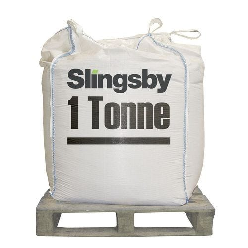 A bag and pallet with Slingsby salt