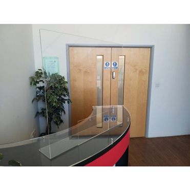 A free standing reception protection screen from Slingsby.